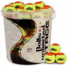 BARREL OF 60 ORANGE/YELLOW UNLIMITED STAGE 2 BALLS