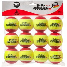 BAG OF 12 BALLS UNLIMITED STAGE 3 RED/YELLOW BALLS