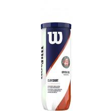 CAN OF 3 WILSON ROLAND GARROS CLAY COURT BALLS