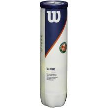 CAN OF 4 WILSON ROLAND GARROS ALL COURT BALLS