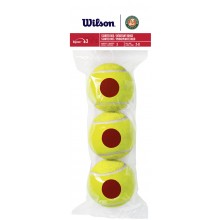 BAG OF 3 WILSON ROLAND GARROS STARTER RED BALLS