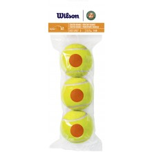 BAG OF 3 WILSON ROLAND GARROS STARTER ORANGE BALLS