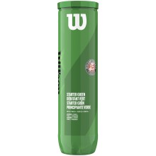 CAN OF 4 WILSON ROLAND GARROS STARTER GREEN BALLS