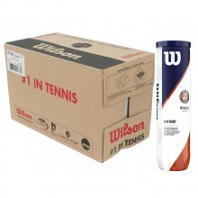 CASE OF 18 CANS OF 4 WILSON ROLAND GARROS OFFICIAL CLAY BALLS