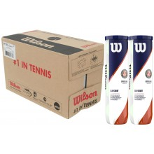 CASE OF 9 BIPACKS OF 4 WILSON ROLAND GARROS OFFICIAL CLAY BALLS