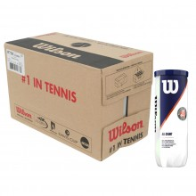 CASE OF 24 CANS OF 3 WILSON ROLAND GARROS ALL COURT BALLS