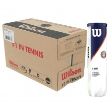 CASE OF 18 CANS OF 4 WILSON ROLAND GARROS ALL COURT BALLS