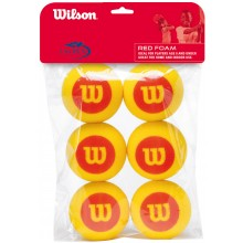 PACK OF 6 WILSON STARTER FOAM BALLS