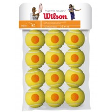 BAG OF 12 WILSON STARTER ORANGE BALLS