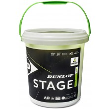 BUCKET OF 60 DUNLOP STAGE 1 GREEN BALLS