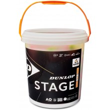 BUCKET OF 60 JUNIOR TENNIS STAGE 2 ORANGE BALLS
