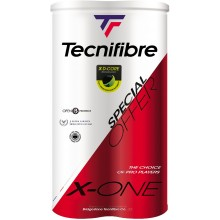 BIPACK OF 4 TECNIFIBRE X-ONE BALLS