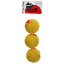 PACK OF 3 TECNIFIBRE FOAM BALLS