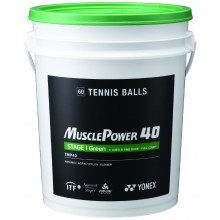 BARREL OF 60 YONEX TMP-40 GREEN BALLS