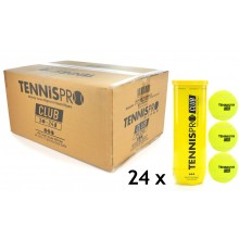 TENNISPRO CLUB CASE OF 24 CAN x 3 BALLS