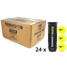 TENNISPRO TOUR CASE OF 24 CAN x 3 BALLS