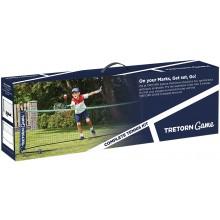 TRETORN GAME COMPLETE KIT: TENNIS/BADMINTON NET + 2 JUNIOR 21 TENNIS RACQUETS + 2 RED BALLS