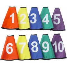 SET OF 10 CONE SLEEVES NUMBERED FROM 1 TO 10
