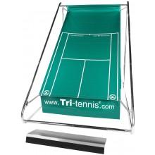 TRI-TENNIS PORTABLE TENNIS WALL PRO (GREEN) + FUN CANVAS