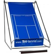 TRI-TENNIS XL PORTABLE TENNIS WALL (BLUE) + FUN CANVAS