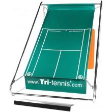 TRI-TENNIS XL PORTABLE TENNIS WALL (GREEN) + FUN CANVAS