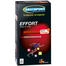 PACK OF SIX ERGYSPORT FOR EFFORT STICKS- ORANGE FLAVOUR