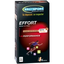 PACK OF SIX ERGYSPORT FOR EFFORT STICKS- PEACH FLAVOUR