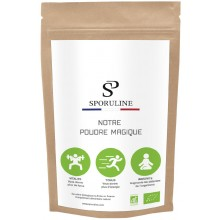 "SPORULINE ""OUR MAGIC POWDER"" 90G SPIRULINE BAG"
