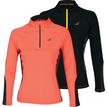 WOMEN'S BABOLAT CORE V COLLAR 1/2 ZIPPED LONG-SLEEVE T-SHIRT