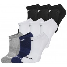 3 PAIRS OF BABOLAT INVISIBLE SOCKS