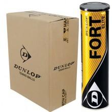CASE OF 18 CANS OF 4 DUNLOP FORT ELITE BALLS