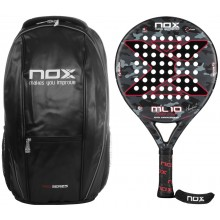 NOX ML10 10 YEARS PADEL RACQUET + BACKPACK + ACCESSORIES