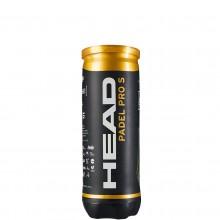 CAN OF 3 HEAD PRO S PADEL BALLS