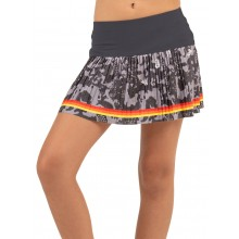 JUNIOR LUCKY IN LOVE CAMO GROOVE PLEATED SKIRT