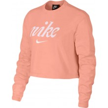 WOMEN'S NIKE CROP TOP CREW NECK SWEATER