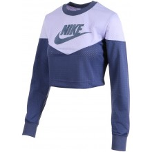 NIKE WOMENS HERITAGE CREW MESH SPORTSWEAR SWEAT TOP