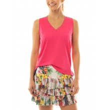 LUCKY IN LOVE HI HOT PLEATED SCALLOP SKIRT
