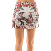 LUCKY IN LOVE HI PHOENIX RISING PLEATED SCALLOP SKIRT