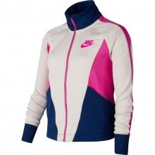 JUNIOR GIRLS' NIKE SPORTSWEAR HERITAGE ZIPPED JACKET