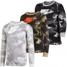 JUNIOR NIKE CAMOUFLAGE LONG-SLEEVE T-SHIRT