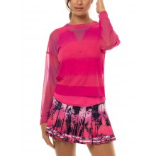 LUCKY IN LOVE HORIZON OMBRE MESH LONG-SLEEVE T-SHIRT