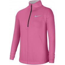 JUNIOR GIRLS' NIKE LONG SLEEVE 1/2 ZIP T-SHIRT