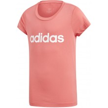 JUNIOR GIRLS' ADIDAS TRAINING ESSENTIALS LINEAR T-SHIRT