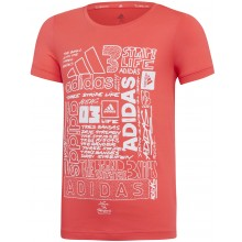 JUNIOR GIRLS' ADIDAS TRAINING T-SHIRT