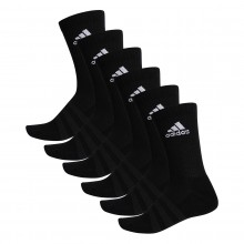 6 PAIRS OF ADIDAS CUSHION CREW SOCKS
