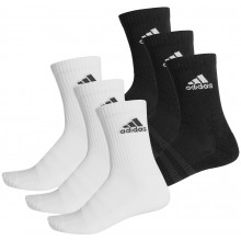 3 PAIRS OF ADIDAS CUSHION CREW SOCKS