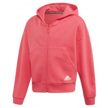 JUNIOR GIRLS' ADIDAS TRAINING MUST HAVE 3S ZIPPED HOODIE