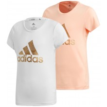 JUNIOR GIRLS' ADIDAS TRAINING LOGO T-SHIRT