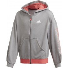 JUNIOR GIRLS' ADIDAS AEROREADY ZIPPED HOODIE