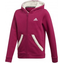 JUNIOR GIRLS' ADIDAS ZIPPED HOODIE